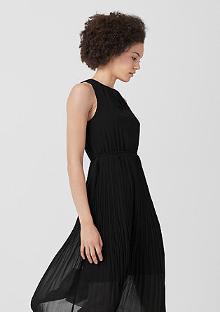 Midi dress with plissé pleats from s.Oliver