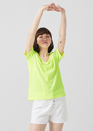 T-shirt in neonkleurige look