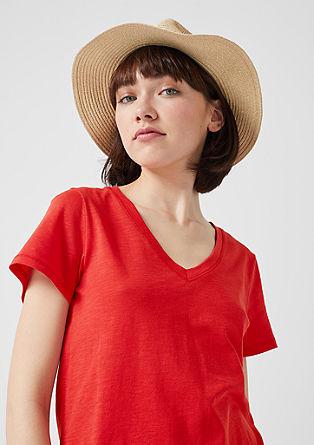 Shirt mit Flammgarnstruktur