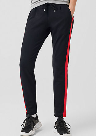 Gwen Boyfriend: Trousers with tuxedo stripes from s.Oliver