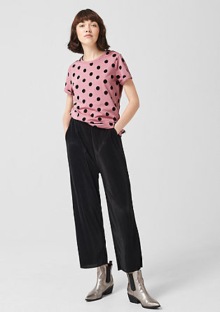 Jersey top with polka dots from s.Oliver