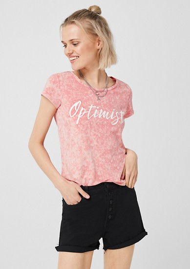 Jerseyshirt im Batik-Look