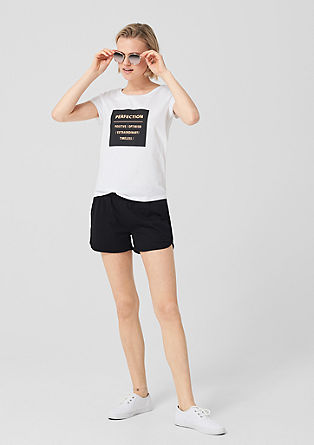 Sporty jersey shorts from s.Oliver