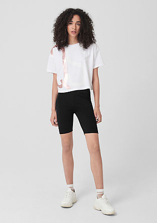 Cycling shorts in stretch cotton from s.Oliver