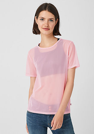 Transparent mesh T-shirt from s.Oliver