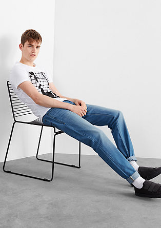Pete Straight: jeans with a washed finish from s.Oliver
