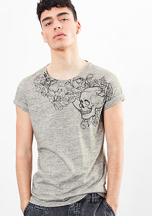 T-shirt with tattoo print from s.Oliver