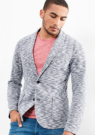Sweatshirt jacket in the style of a tailored jacket from s.Oliver