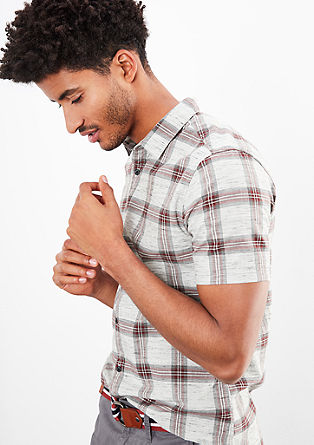 Short sleeve shirt in a check design from s.Oliver