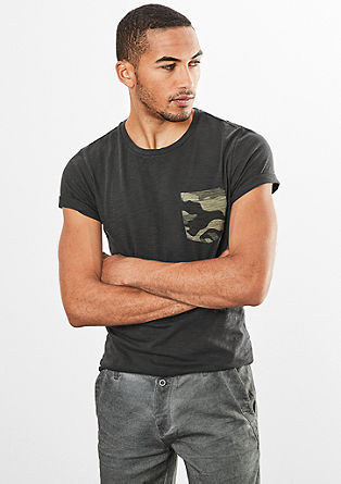T-shirt with a chest pocket from s.Oliver