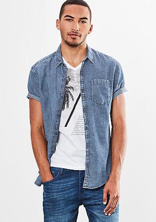 Extra slim: overhemd met een garment wash