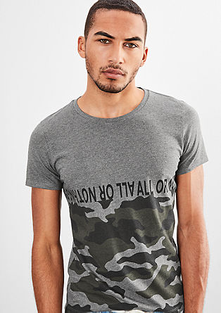 Jerseyshirt mit Camouflage-Print