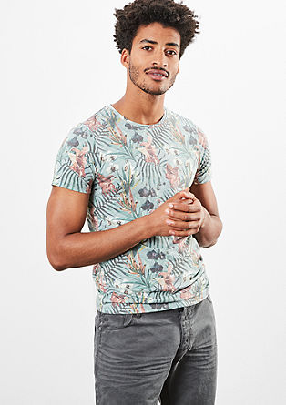 Shirt met een motief all-over