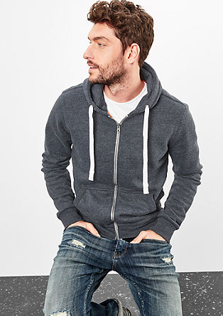Fluffy zip-up hoodie from s.Oliver