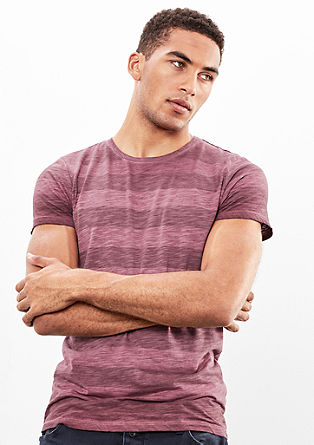 Striped T-shirt in a garment-washed finish from s.Oliver