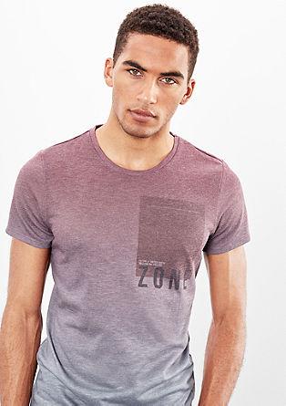 Melange-Shirt mit Print