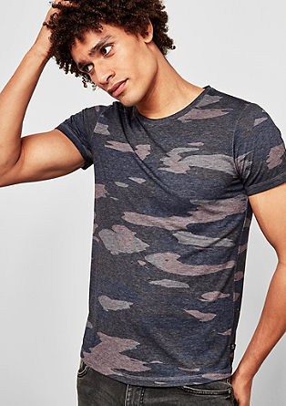 T-shirt with a camouflage print from s.Oliver
