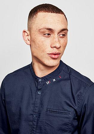 Extra Slim: Hemd mit Patches