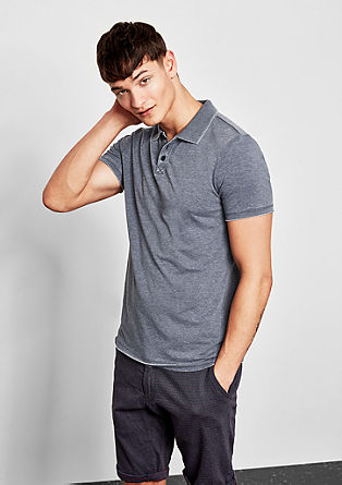 Polo shirt with a washed finish from s.Oliver
