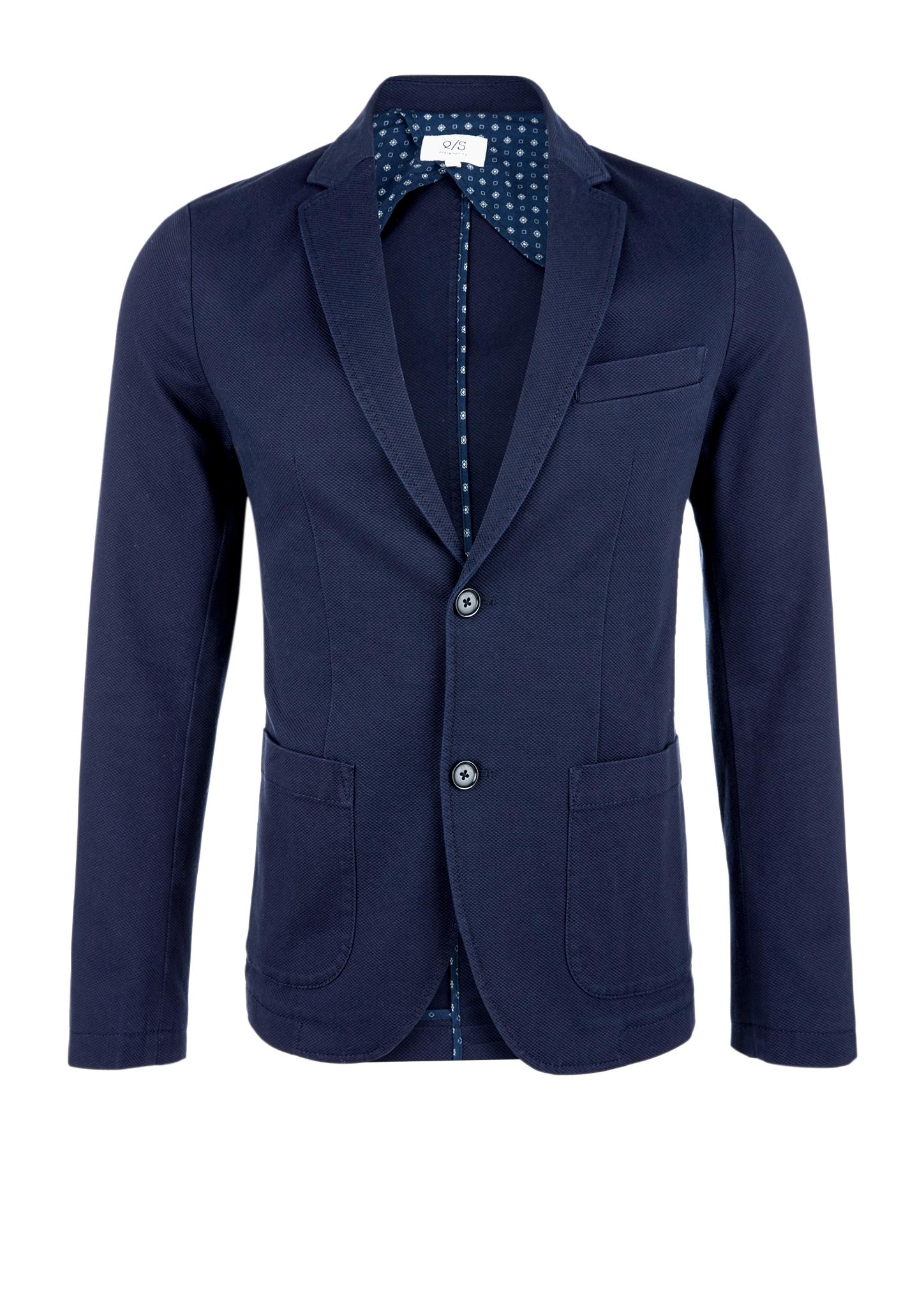 Blazer | Bekleidung > Sakkos > Sonstige Sakkos | Blau | Obermaterial 97% baumwolle -  3% elasthan| futter 100% baumwolle | Q/S designed by