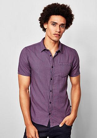 Extra slim: geruit overhemd met korte mouwen