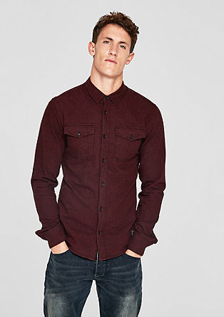 Extra Slim: shirt with a textured effect from s.Oliver