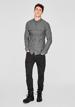 Extra slim: overhemd in gestructureerde look