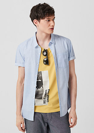 Extra Slim: textured short sleeve shirt from s.Oliver