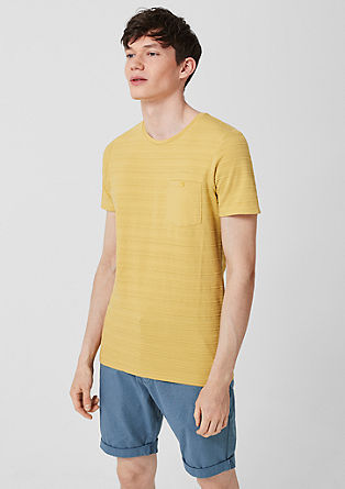 strukturované tričko snáprsní kapsou