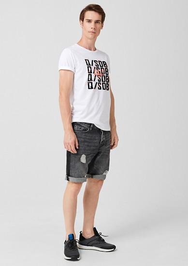 T-shirt met neonkleurige print