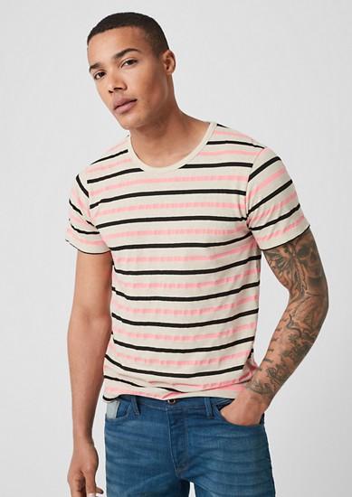 Gemêleerd jersey shirt met linnen
