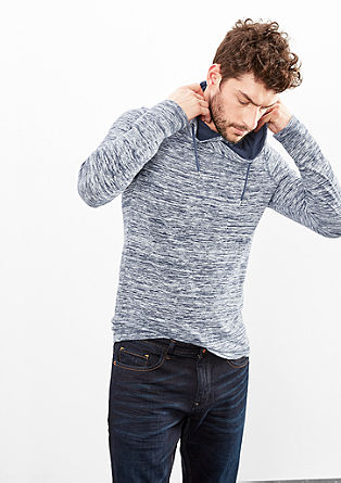 Slub Yarn-Shirt mit Turtleneck