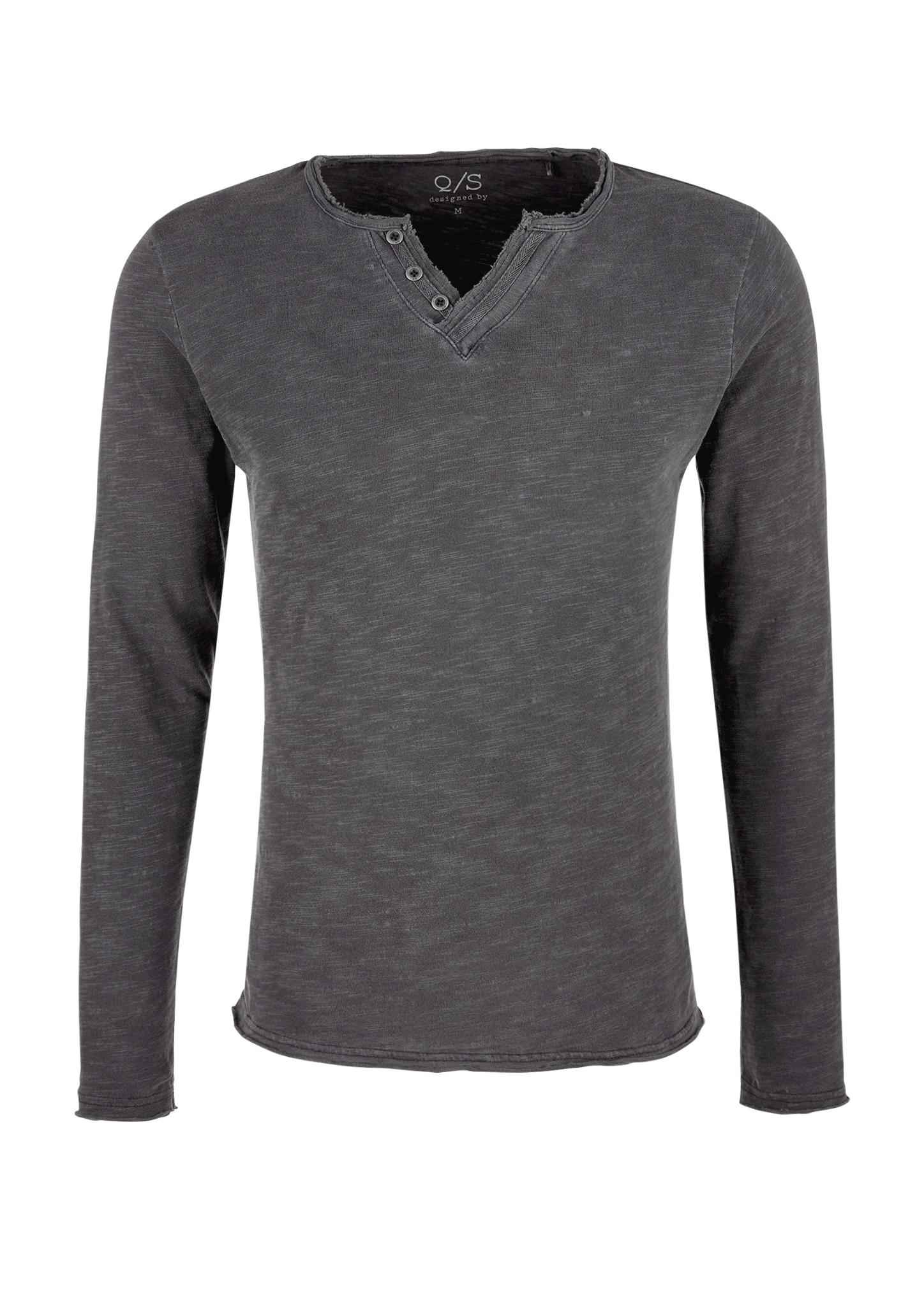 Langarmshirt   Bekleidung > Shirts > Langarm Shirts   Grau/schwarz   100% baumwolle   Q/S designed by