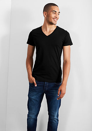 T-Shirt mit V-Neck