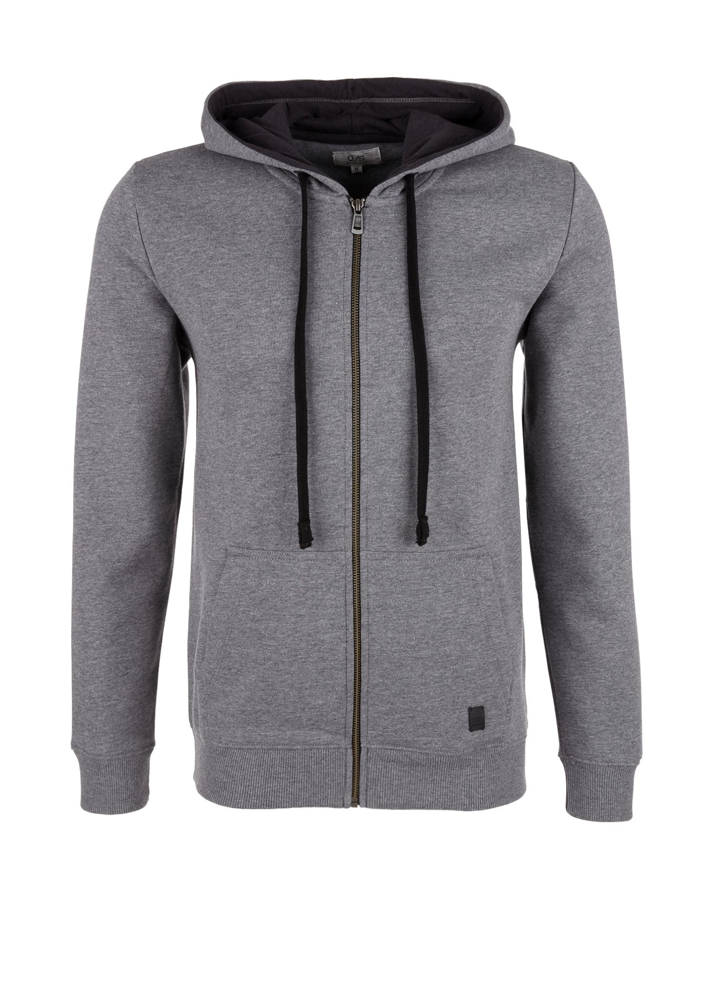 Sweatjacke | Bekleidung > Sweatshirts & -jacken | Grau/schwarz | 60% baumwolle -  40% polyester | Q/S designed by
