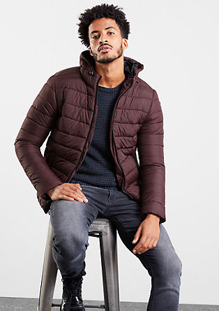 Quilted jacket with a contrasting hood from s.Oliver