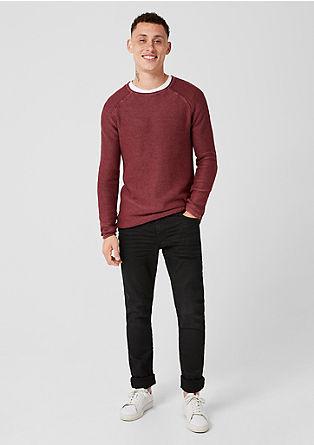 Pletený pulovr se sepraným efektem
