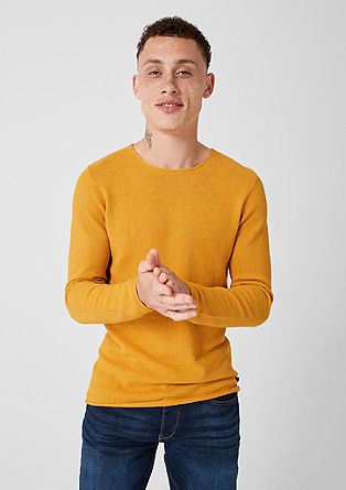 Gemêleerde trui van gestructureerd breisel