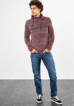 Pleten pulover s šal ovratnikom