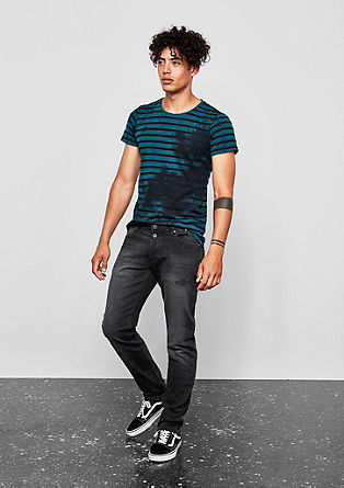 Rick Slim: black melange jeans from s.Oliver