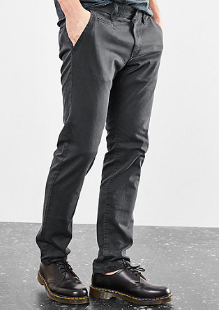 Rick Slim: stretch cotton chinos from s.Oliver