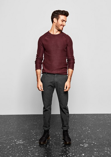 Rick Slim: hlače chino s tkano teksturo