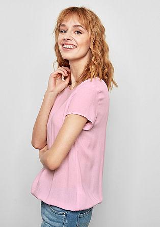 Vzorčasta bluza O-kroja