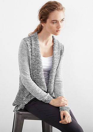 Cardigan with a waterfall collar from s.Oliver