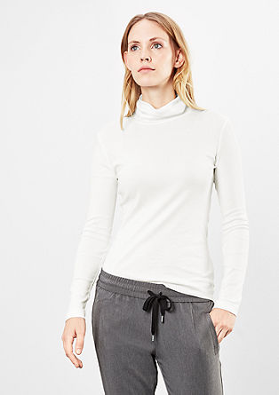 Thin long sleeve top with a roll neck from s.Oliver