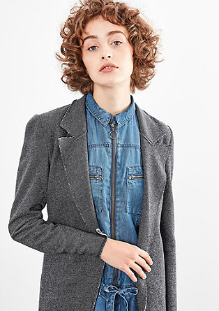 Long blazer-style sweatshirt jacket from s.Oliver