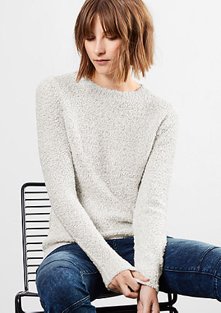Bouclé knit jumper from s.Oliver