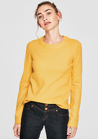 Knit jumper in a fine wool look from s.Oliver