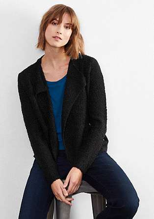 Short jacket in a bouclé knit from s.Oliver