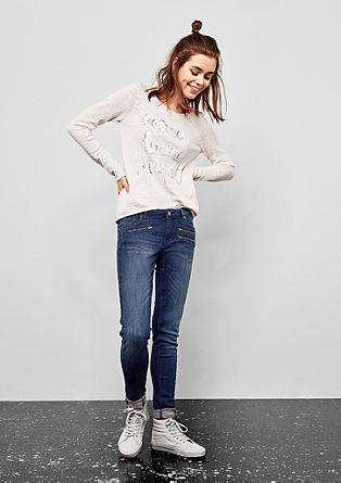 Sadie Superskinny: jeans with zips from s.Oliver